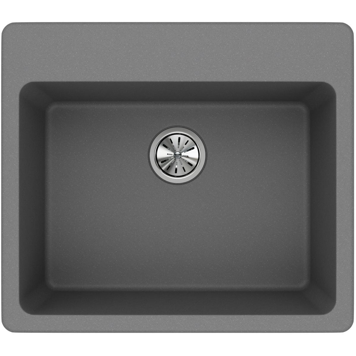 Elkay Quartz Classic ELG2522GS0 Greystone Single Bowl Top Mount Sink