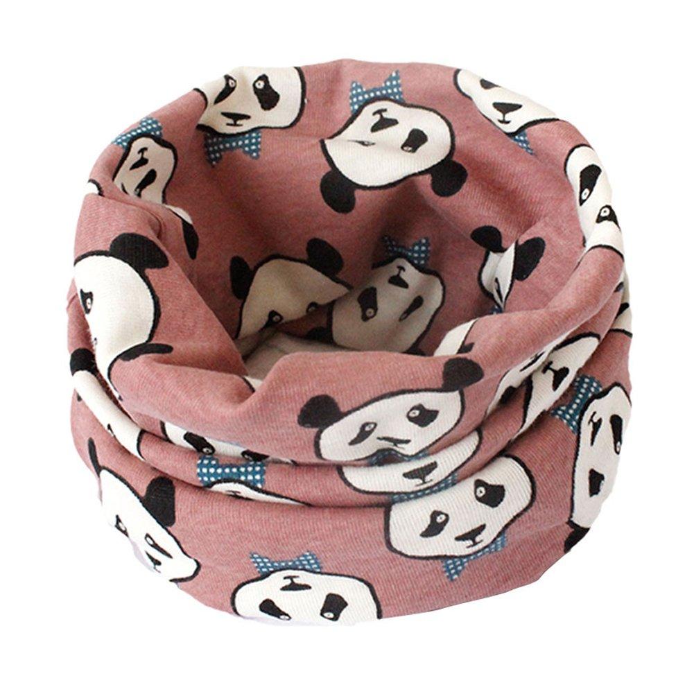 Fablcrew Kid's Warmer Scarf Soft Animal Pattern Neckerchief Multi Use Loop Snood for Babys Beige