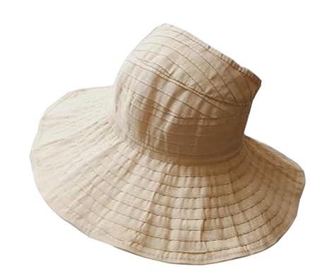 b2899ca7893 Elonglin Womens Beach Hat Visor Roll up Sun Hat Wide Brim Foldable Beach Cap  for Summer