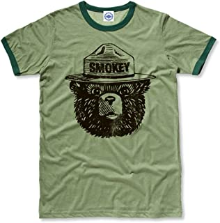 product image for Hank Player U.S.A. Official Smokey Bear Men's Ringer T-Shirt