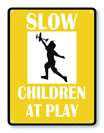 Amazoncom Wendana Slow Children At Play Safety Signs For Kids Play