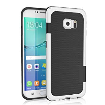 timeless design de268 958e5 Galaxy S6 edge Case, 3 Color Hybrid Dual Layer Shockproof Case [Extra Front  Raised Lip] Soft TPU & Hard PC Bumper Protective Case Cover for Samsung ...
