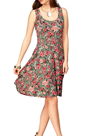 Strandkleid Kleid Uniquestyle Beiläufiges Ausgestelltes Damen Trägerkleid Knielang Ärmelloses Sommerkleid Tank rxoeWdBC