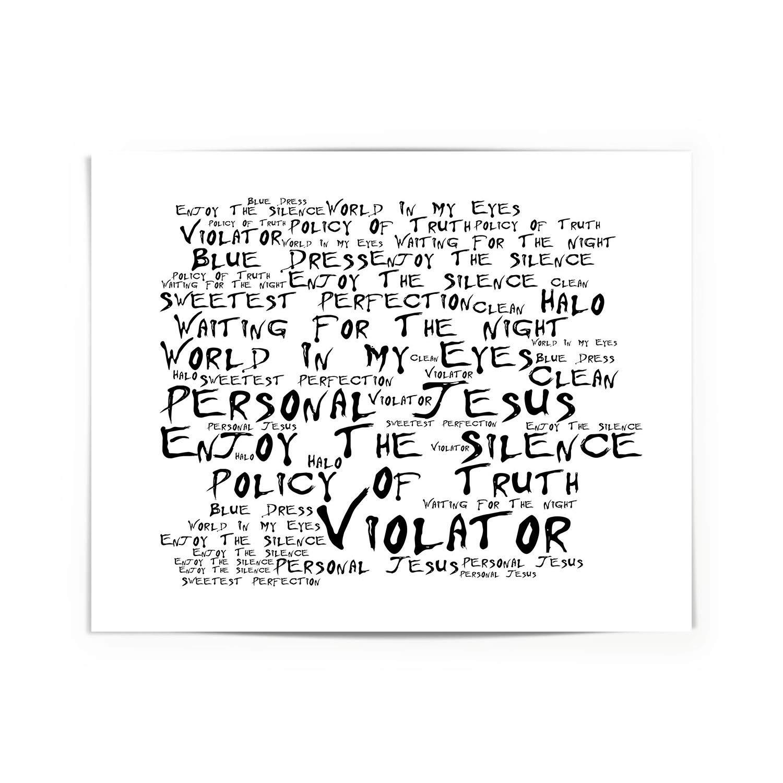 Stampa Artistica Firmato e numerato edizione limitata tipografia da collezione regalo per gli amanti della musica Massive Attack Blue Lines