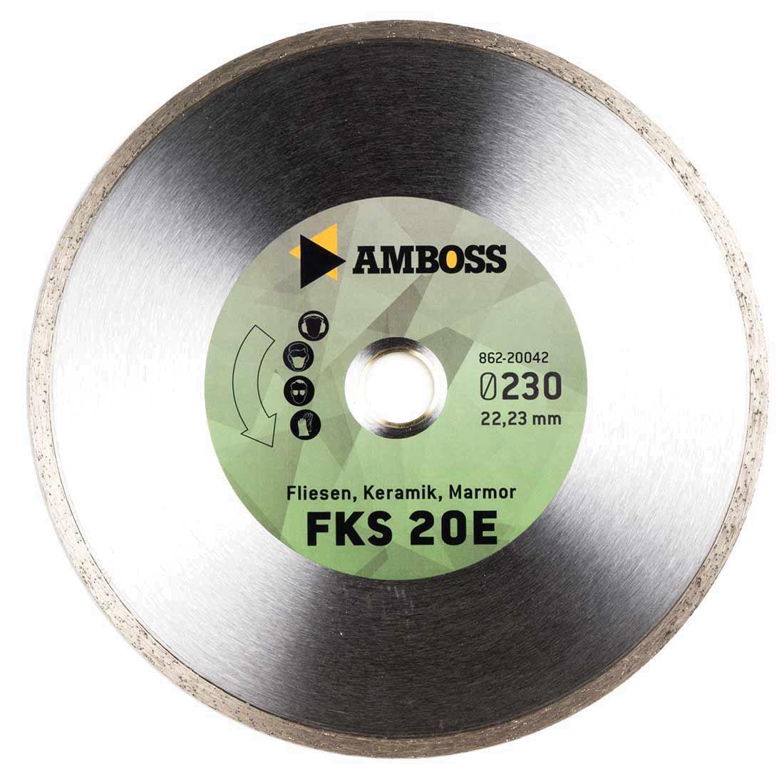Amboss FKS 20 - Diamant-Trennscheibe Ø 105 mm x 22, 2 mm - Fliesen / Keramik / Marmor | Segmenthöhe: 5 mm (gesintert)