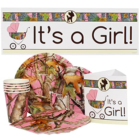 Amazoncom Pink Camo Baby Shower For 16 Toys Games