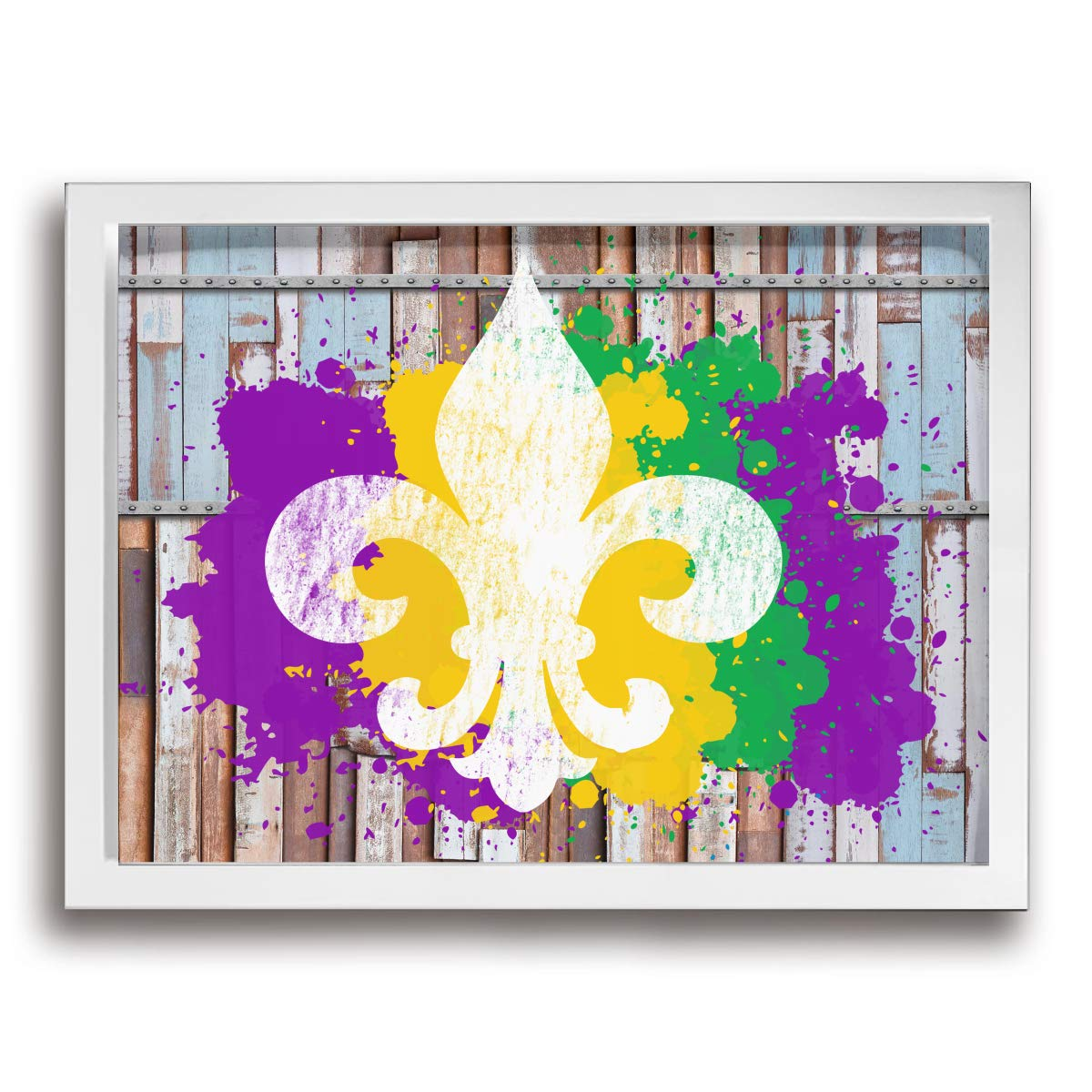 Fleur De Lis Mardi Gras Splashing Paintings