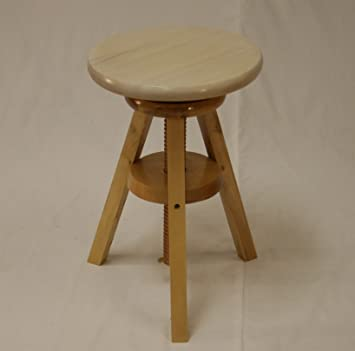 eHemco Wooden Adjustable Stool in Water-Washed White Seat(18u0026quot; ... & Amazon.com: eHemco Wooden Adjustable Stool in Water-Washed White ... islam-shia.org
