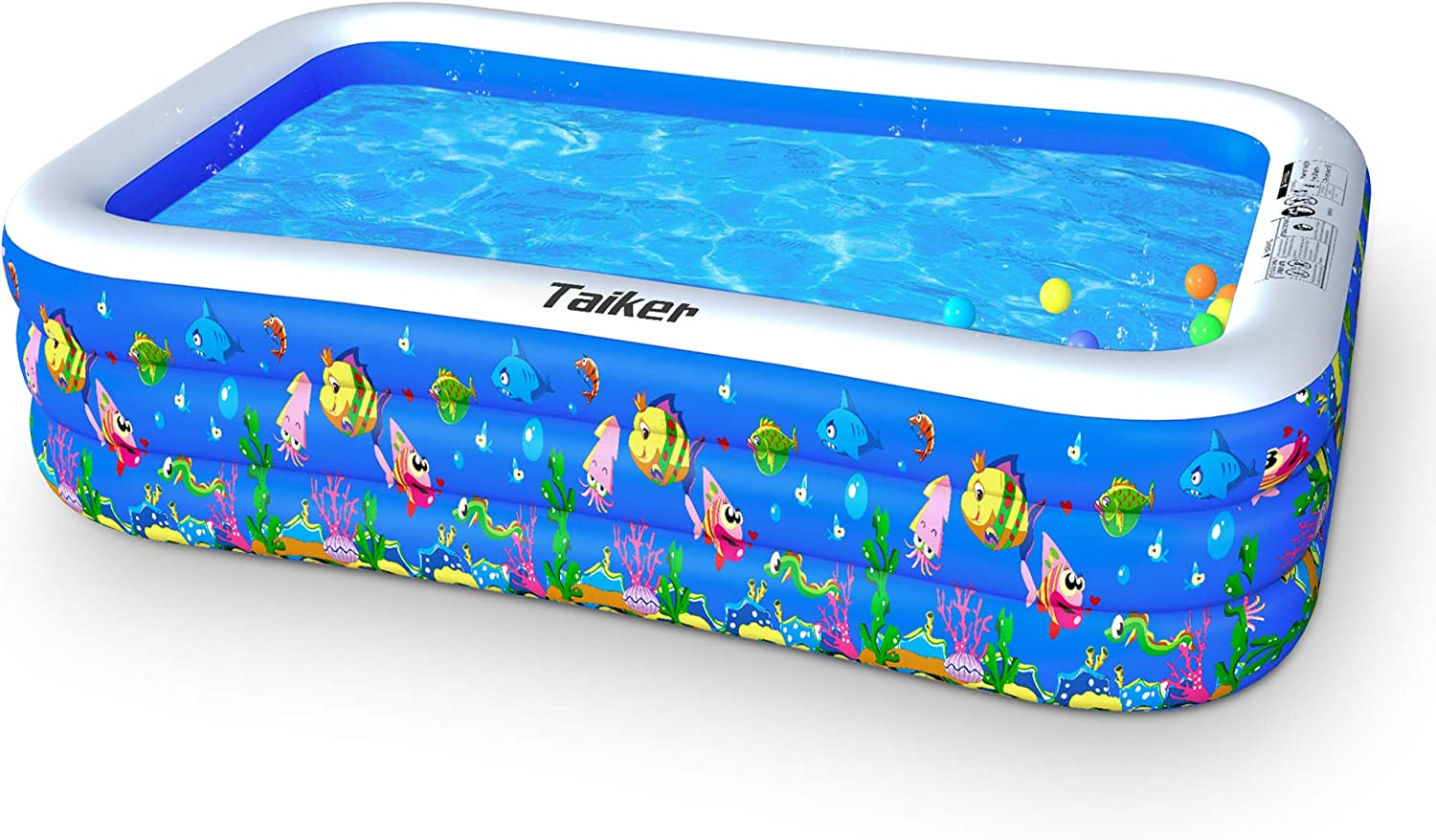 Taiker Inflatable Swimming Pools Kiddie Pools Family Lounge Pools 96 X 57 X 21 Large Family Swimming Pool For Kids Adults Babies Toddlers Outdoor Garden Backyard 96 Kitchen Dining