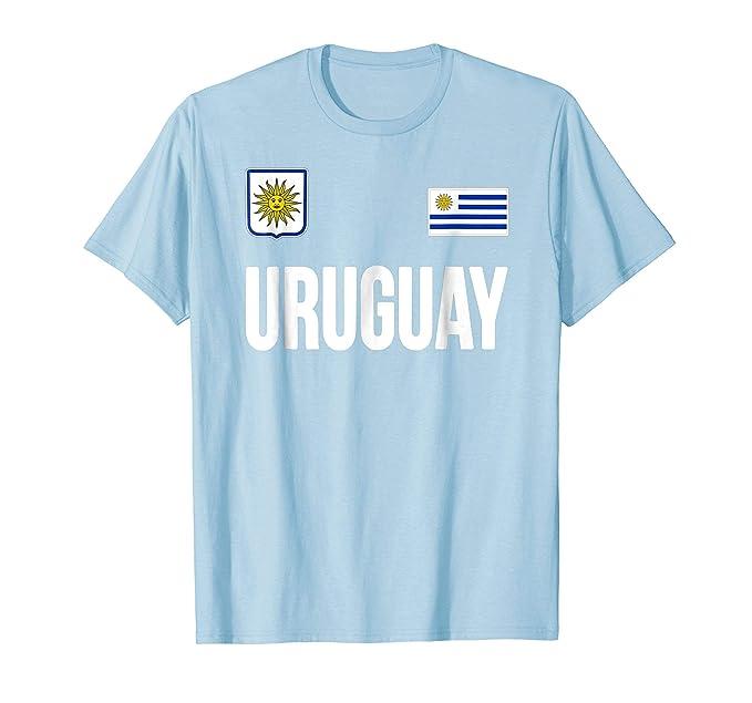 Mens Uruguay T-shirt Uruguayan Flag Soccer Futbol Fan Jersey 2XL Baby Blue