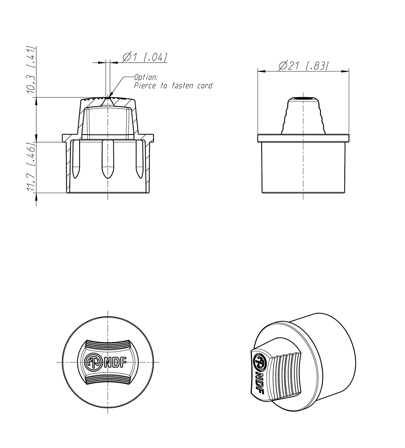 Neutrik Ndf Dummy Pack Of 2 Plug For Use With Xlr Chassis Socket Wiring Diagram Also Audio Trs Jack Schematics On Dust Cover Male Recept Industrial Scientific