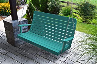 product image for Furniture Barn USA Outdoor 5 Foot Winston Porch Swing with Chain - Aruba Blue Poly Lumber - Recycled Plastic