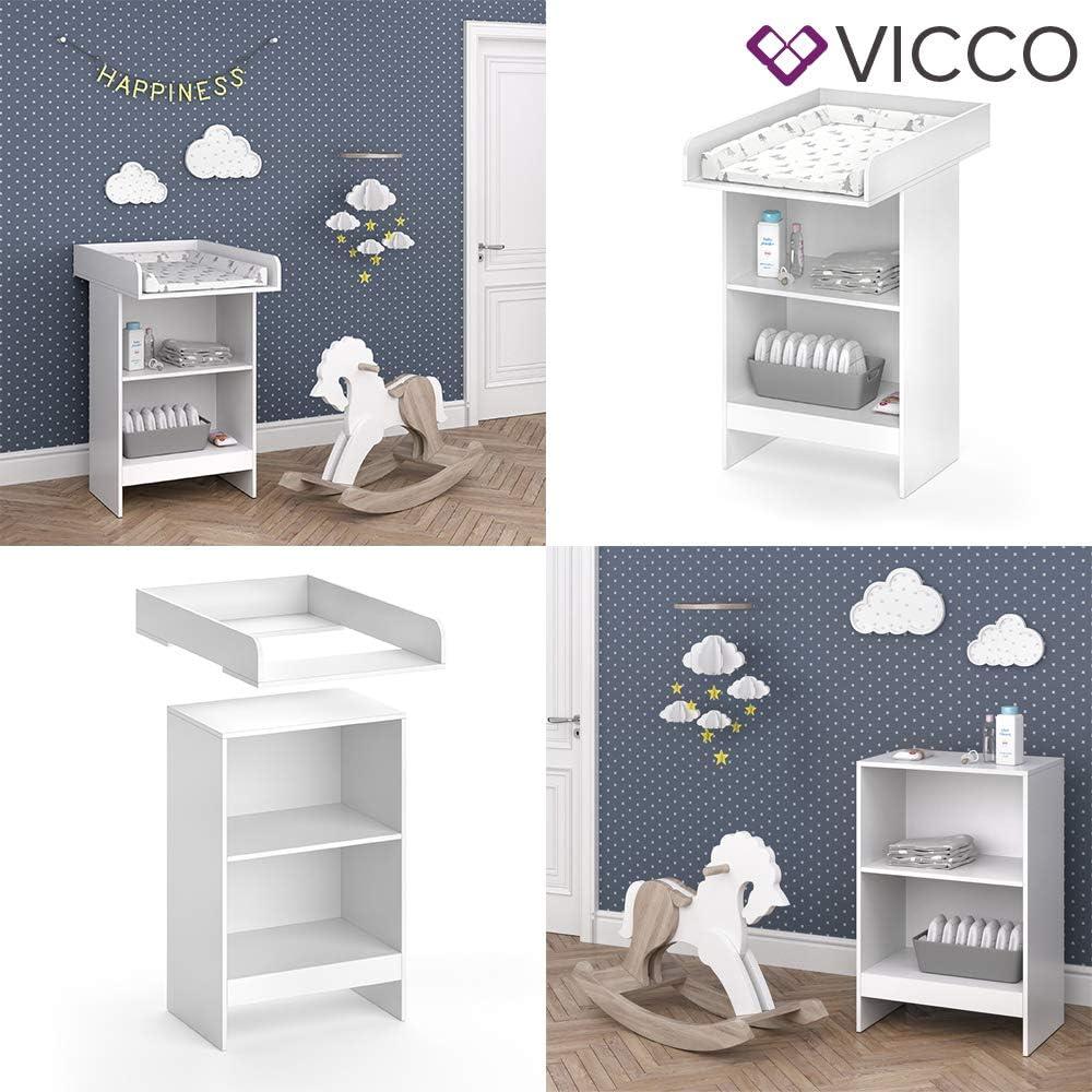 Table /à langer Vicco Leo blanc B/éb/é /Étag/ère /à langer Mod/èle b/éb/é Commode Commode /à langer