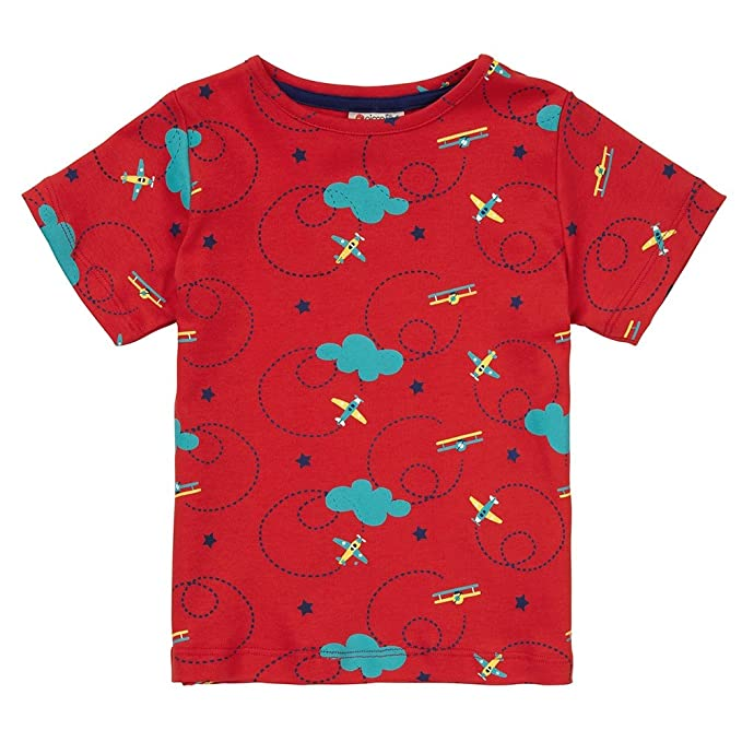 Piccalilly Camiseta, Jersey de Algodón Orgánico, Niños, Avión