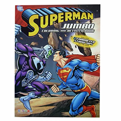 Amazon.com: Superman Coloring Book - Superman Jumbo Coloring And ...
