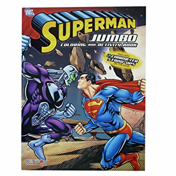 Superman coloring book superman jumbo coloring and activity book 1 book