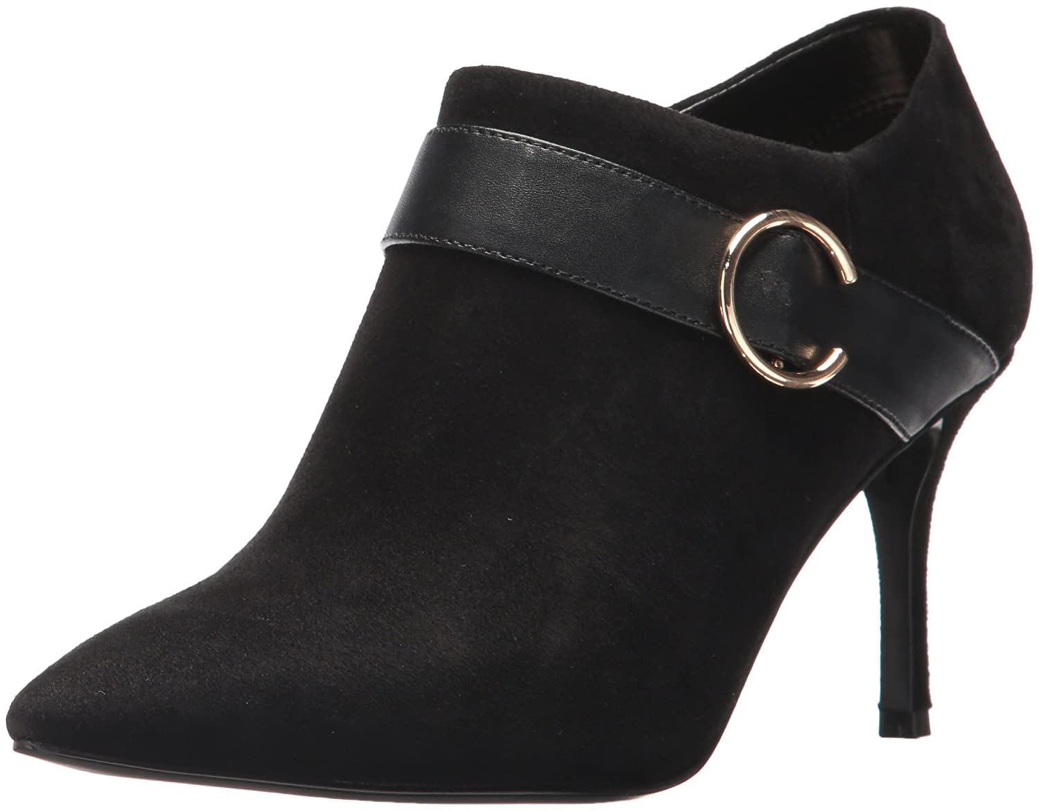 Nine West Women's Megaera Ankle Boot B01N80QXCJ 8.5 B(M) US|Black Suede