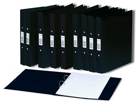 Rexel - Archivador con anillas para documentos A5 (10 unidades), negro