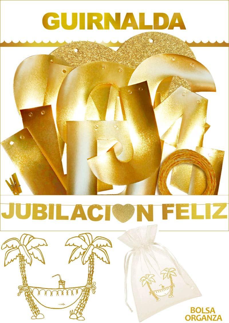 Inedit Festa - Guirnalda Feliz Jubilación Jubilación Feliz Dorada ...