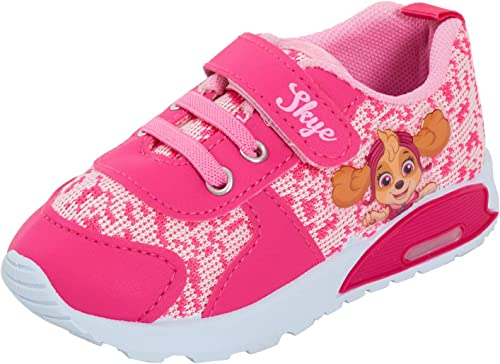 GIRLS OFFICIAL PAW PATROL PUP CHARACTER PINK TRAINERS SHOES INFANTS SIZE 5-10