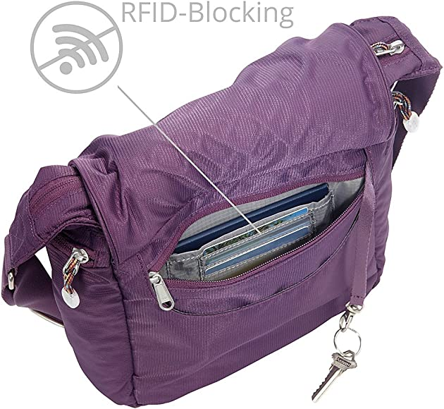 63a7b4f6f246ad eBags Piazza Daybag 2.0 with RFID Security - Small Satchel Crossbody for  Travel, Work,. Back. Double-tap to zoom