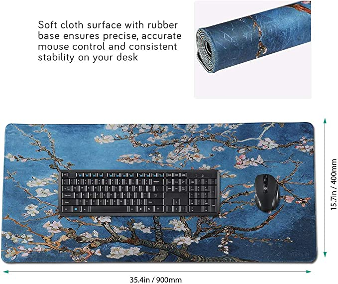 Extended Game Mouse Pad 90x40 kapaiY38 Ideal for Work /& Game Durable/Gaming Mouse mat XX-Large Non-Slip Water-Resistant Rubber Base Computer Keyboard Mouse Mat