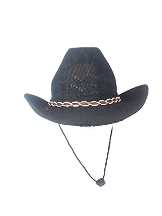 f07c2c0e7dfca Image Unavailable. Image not available for. Color  12 Lightweight  Breathable Cowboy Hats Black   White ...