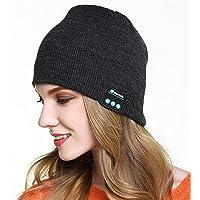 RabbitStorm Bluetooth 4.2 Música Sombrero de Punto Cálido Invierno Bluetooth Frío Auriculares Sombrero, Unisex Winter…