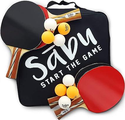 Amazon.com: Juego de paletas de ping pong - 6 Star ...