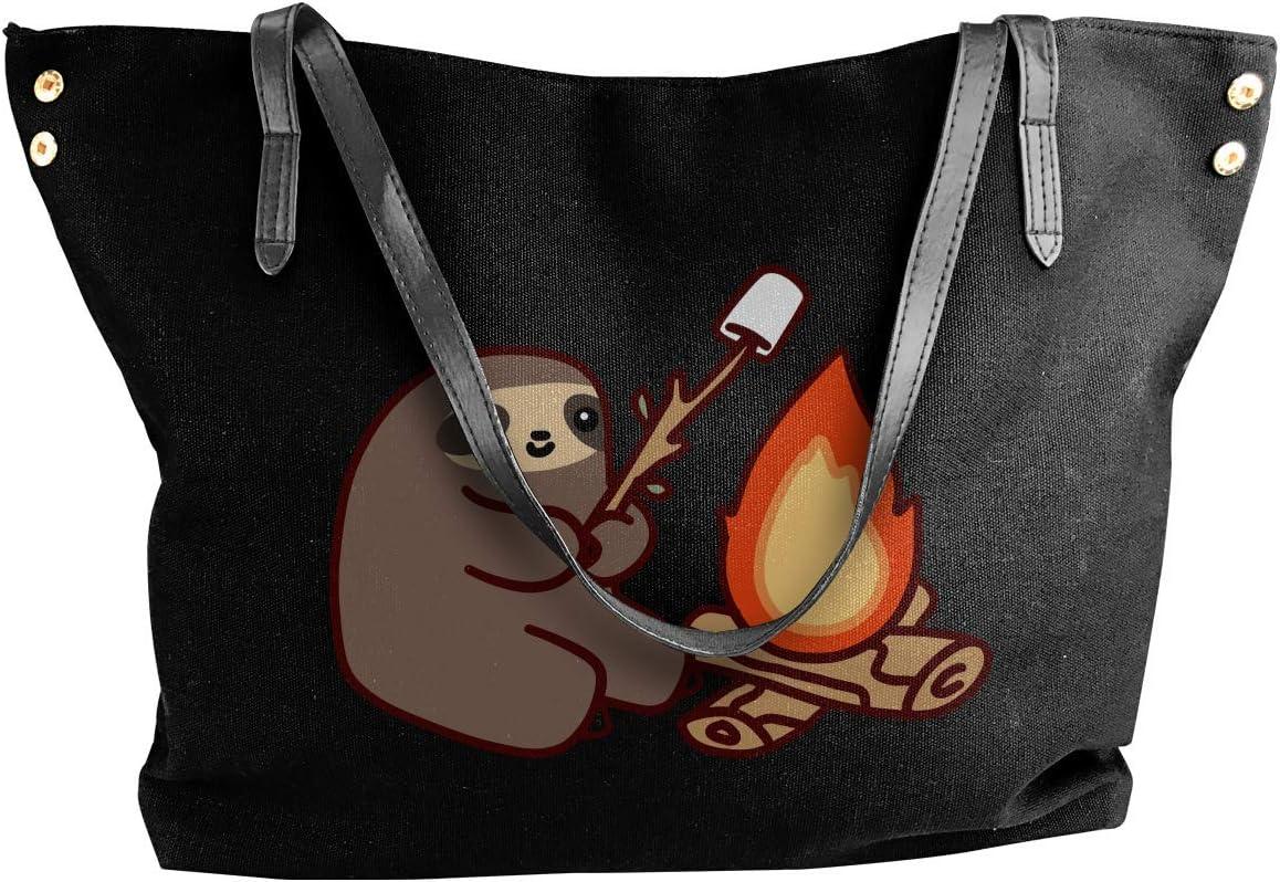 Campfire Sloth Womens Canvas Shoulder Bag Fashion Messenger Bags