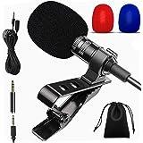 Micrófono Lavalier, condensador omnidireccional Lavalier para grabación de entrevista YouTube compatible con teléfono/Android