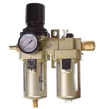 Unidad de mantenimiento de aire comprimido manorreductor Lubricador para compresor Impacto de 1/2: Amazon.es: Bricolaje y herramientas