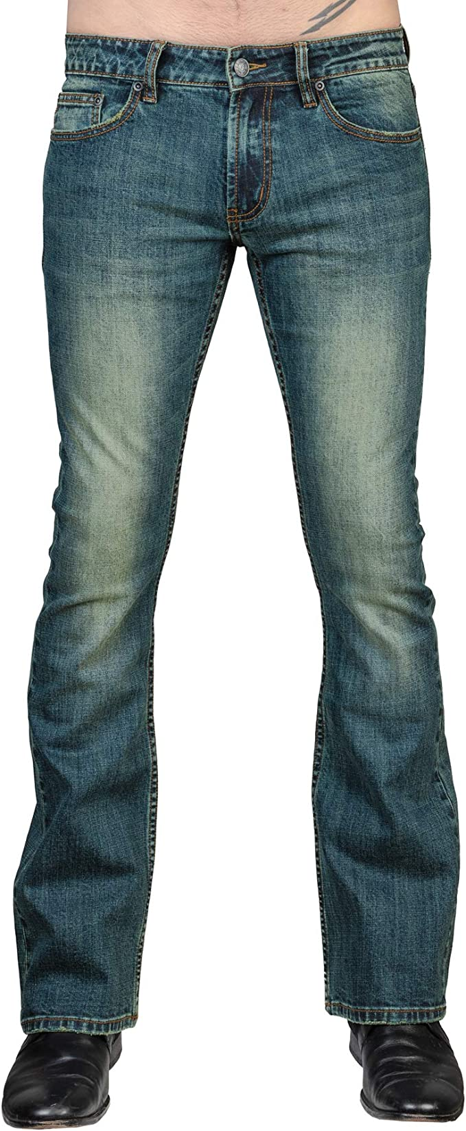 Vintage Blue Wornstar Hellraiser Side Button Pants