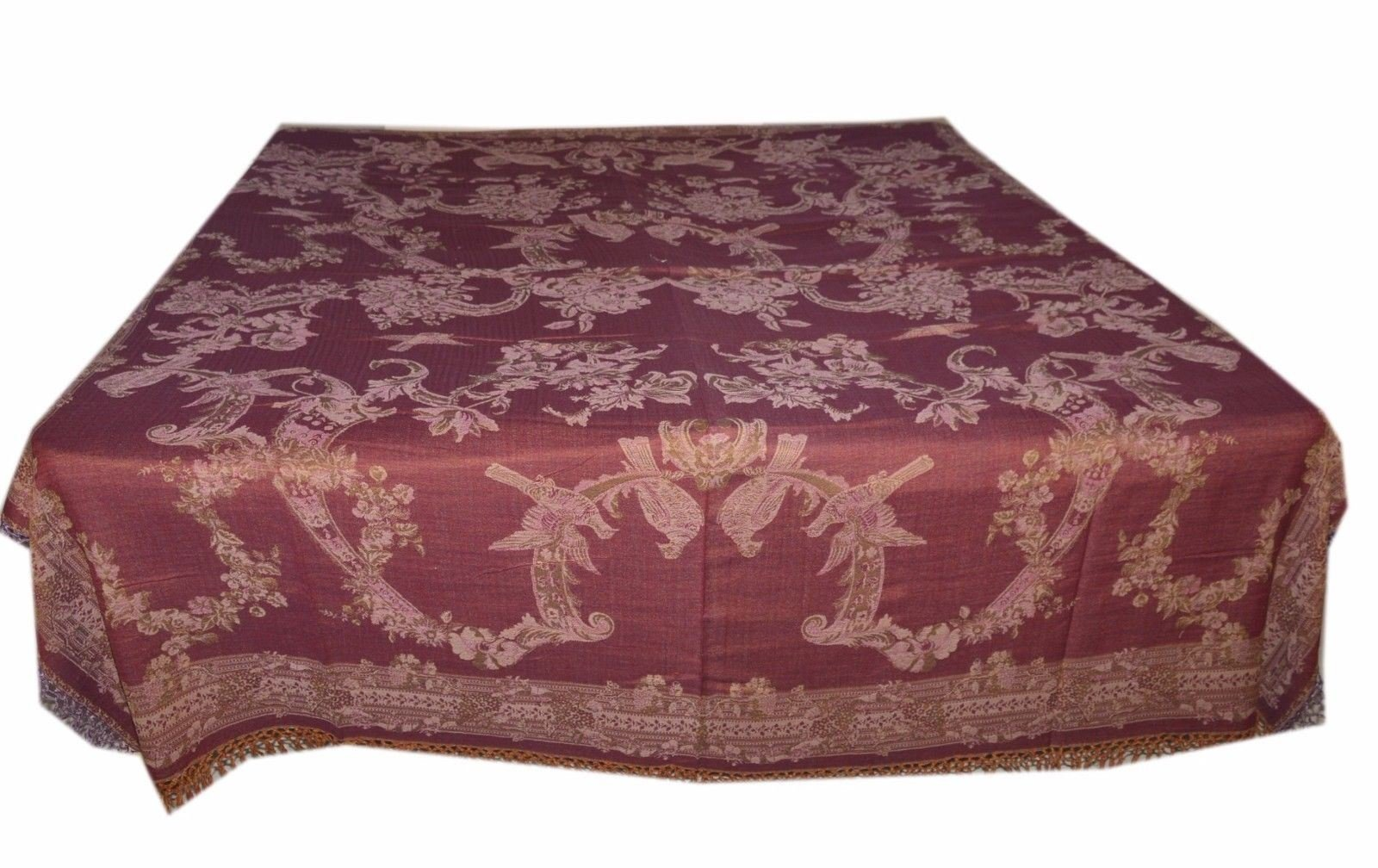 Blanket Throw Tree Of Life Bedspread Wool Indian Bedding Sofa Cover SL865 by Tribal Asian Textiles (Image #2)