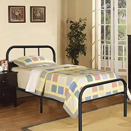 Amazon Com Kingpex Metal Bed Frame Twin Size Black 6 Legs Platform
