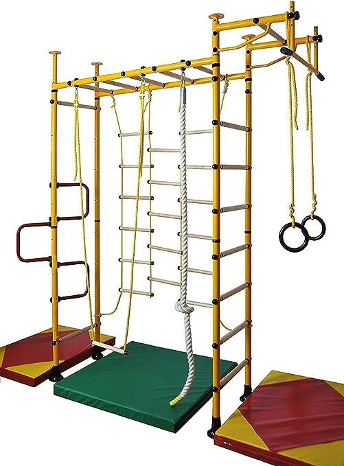 NiroSport - FitTop M3 - Estructura de barras de escalada para niños, aparato de ejercicios para niños, espaldera de gimnasia, pared de escalada, ...