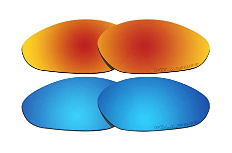 392b2fa789 Image Unavailable. Image not available for. Color  2 Pairs Polarized Lenses  Replacement Red   Blue for Oakley Minute 2.0 Sunglasses