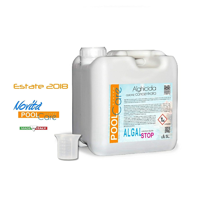 POOL CARE - ALGAL Stop 5 Litri - Antialga concentrato Non SCHIUMOGENO +  Bicchierino dosatore. Ideale per Piscina. Trattamento Acqua alghicida -  SPEDIZIONE ... e0c65030d738