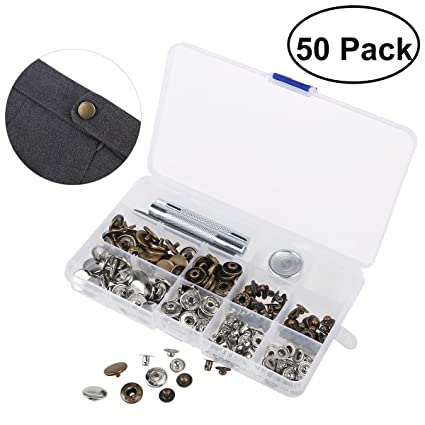 amazon com ounona 50 sets metal snap button snap fasteners clothing