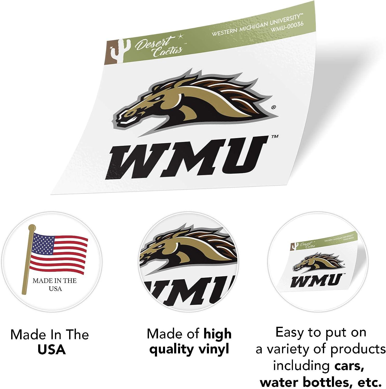 Western Michigan University WMU Broncos NCAA Sticker Vinyl Decal Laptop Water Bottle Car Scrapbook Full Sheet 2-Logo