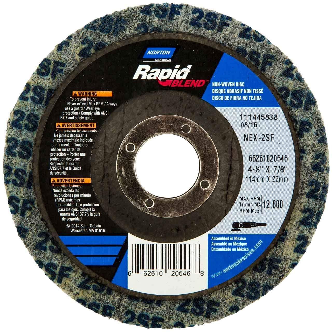10 -PK Norton Rapid Blend S/C Unitized Disc T27 4-1/2 Inch X 7/8 Inch 2S Vfn // 66261020546