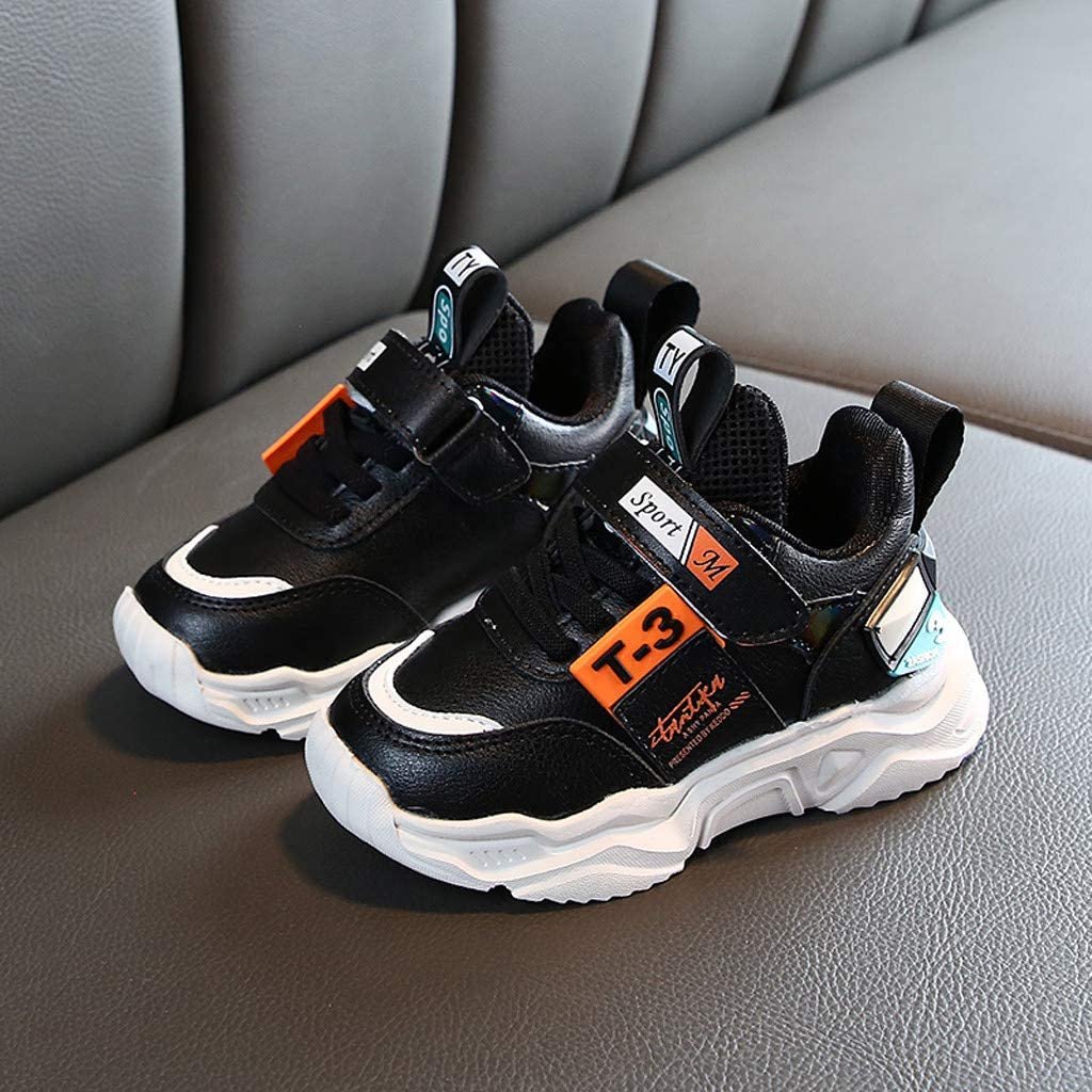 Toddler//Little Kid//Big Kid Kailuoze Webbing Kids Knit Sneakers Breathable Strap Athletic Running Sport Jogging Shoes for Boys Girls