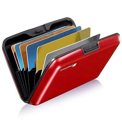 Greatshield Rfid Nfc Blocker Cardguard Aluminium Kreditkarten Visitenkarten Ausweis Ec Bank Karte Halter Hülle Etui Brieftasche Kartenbörse Wallet Ca