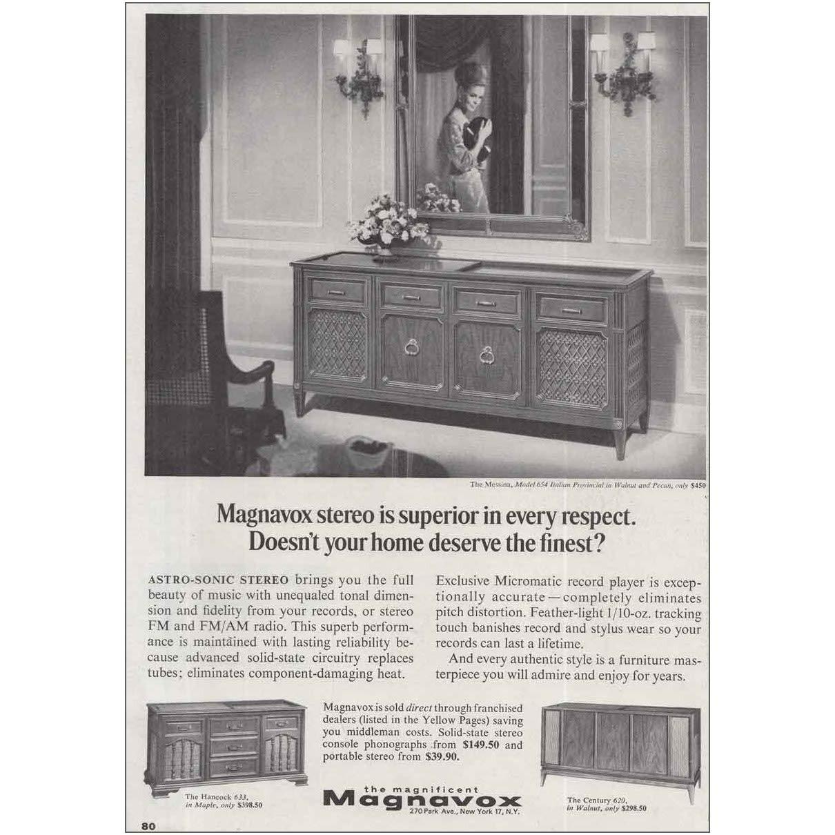 Amazon com: RelicPaper 1966 Magnavox Stereo: Messina Model