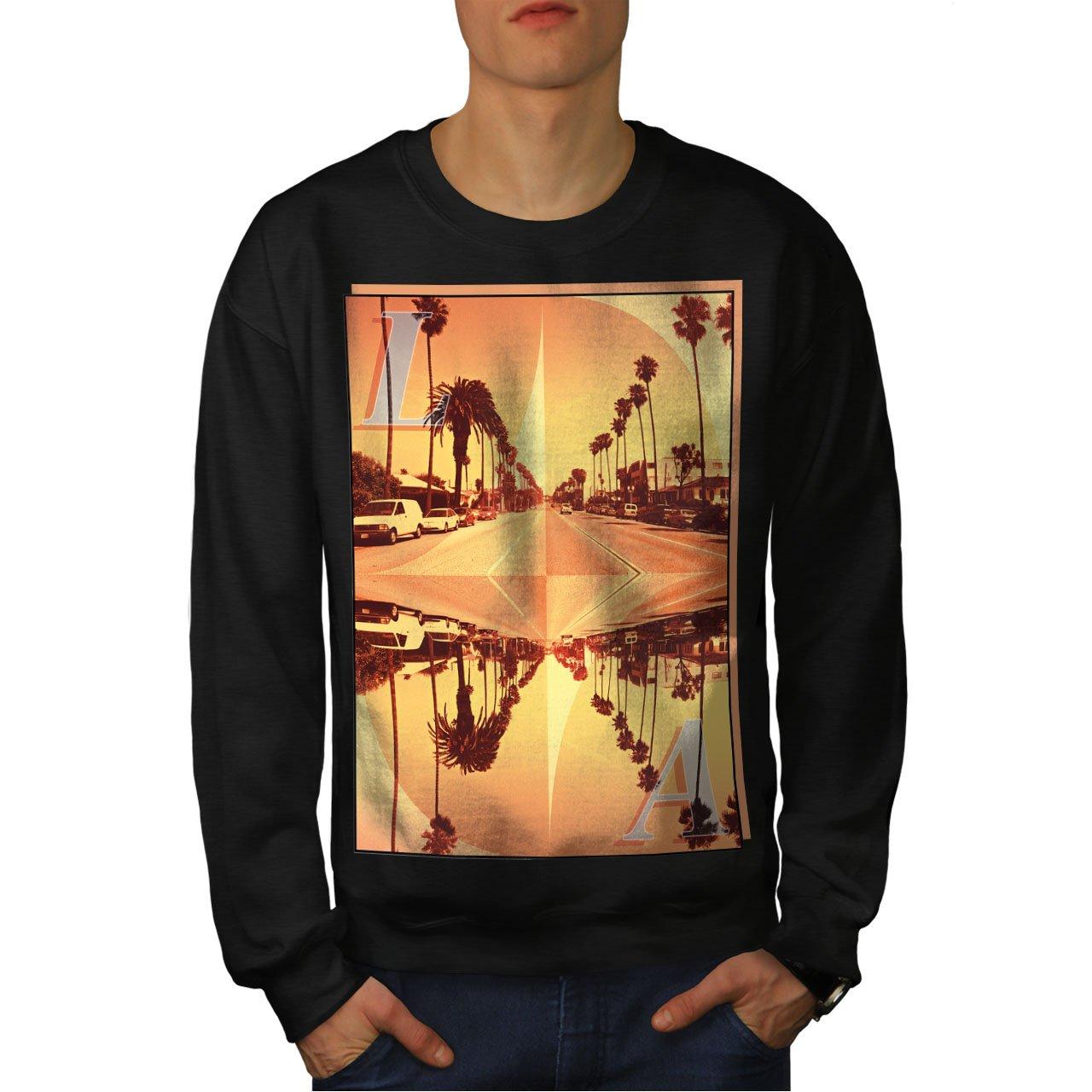 America Casual Jumper wellcoda Los Angeles City Mens Sweatshirt