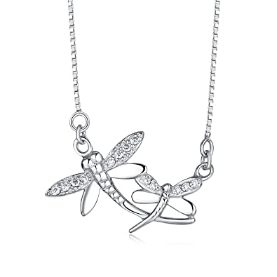 05f2e2f49 Amazon.com: Tabwing Sterling Silver Dragonfly Pendant Necklace with 16