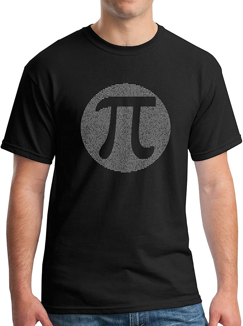 95518d647 Pi Symbol T-Shirt - Funny Nerd Math Geek Graphic Tee PI Day 3.14 2018. -  100% Cotton - Heather Fabrics and Tweed Are 50/50 Cotton/Poly - Sport Grey  & Irish ...
