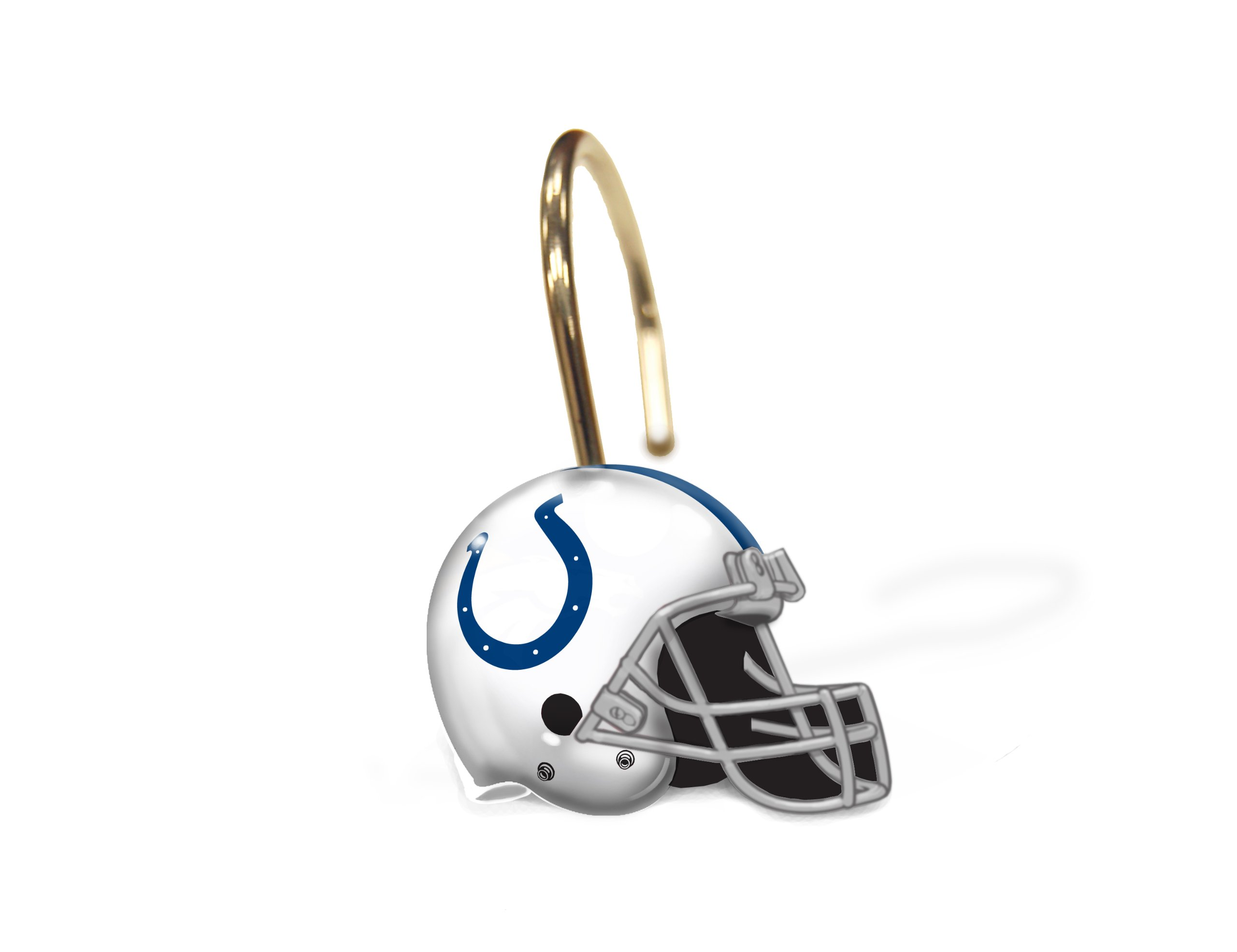 Officially Licensed NFL Indianapolis Colts Shower Curtain Rings, One Size, Multi Color, Set of 12 by The Northwest Company