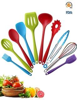 Amazon.com: Core Kitchen, Ergonomic Silicone Utensil 10 Pieces Set ...