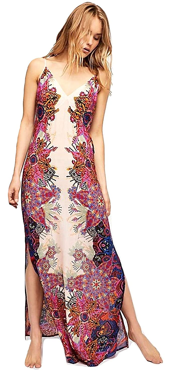 e4544b6dd08e0 Free People Wildflower Printed Maxi Slip Dress (S) at Amazon Women's  Clothing store: